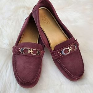 Coach Fortunata Sz 7.5 Purple Suede Loafers